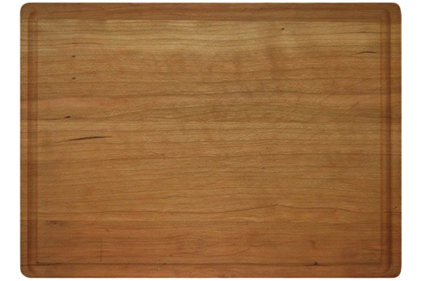 LARGE 1 3/4 INCH CHERRY BUTCHER BLOCK WITH JUICE GROOVE