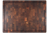 Large End grain butcher block with finger grip